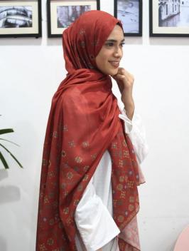 Abina Pashmina Red
