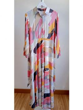 Zea Printed Organic Dress