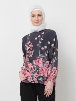 Sabhira Top Flower Black