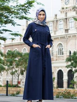 Nura Navy Dress