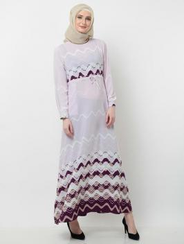 Aqilla Dress Abstract Purple