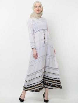 Aqilla Dress Abstract Violet Grey