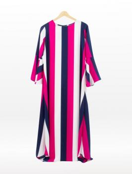 Azka Dress Fushia