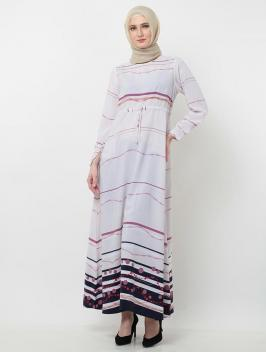 Aqilla Dress Abstract Violet Purple